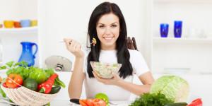 people eat healthy food