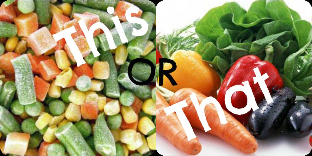 Sayur Segar VS Sayur Beku